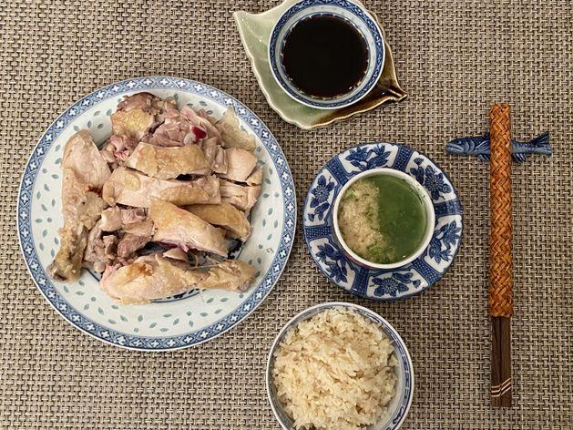 Hainanese Chicken Rice wide display