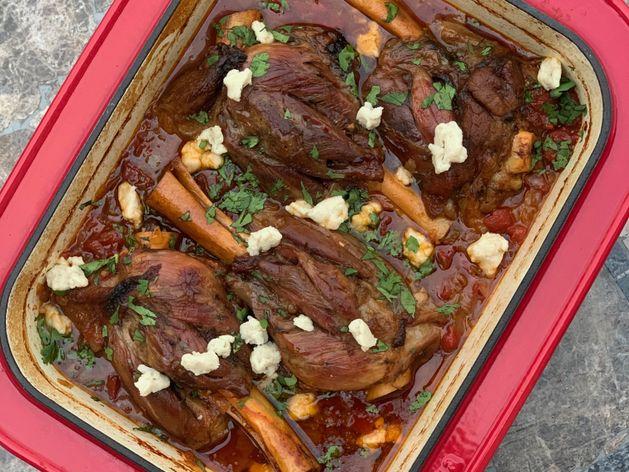 Greek Braised Lamb Shanks (Slow Cook) wide display