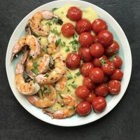 Spicy Garlic Shrimp with Cherry Tomatoes