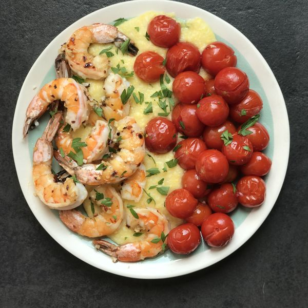 Spicy Garlic Shrimp with Cherry Tomatoes wide display