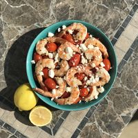 Greek Shrimp with Cherry Tomatoes