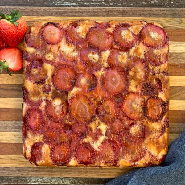 Strawberry Upside-Down Cake wide display