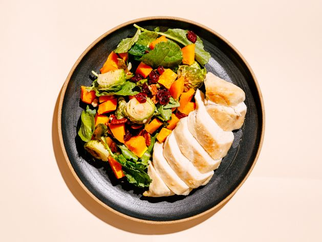 Custom Cook Template- 1 Chicken Breast + 1 Zone Vegetables wide display