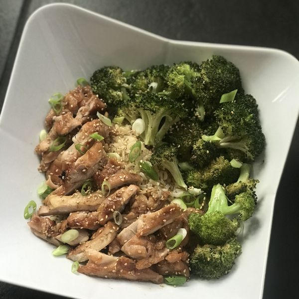 Teriyaki Chicken with Broccoli wide display