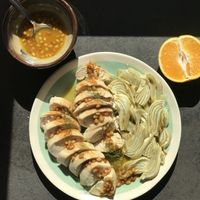 Chicken Breasts and Fennel with Agrodolce Sauce