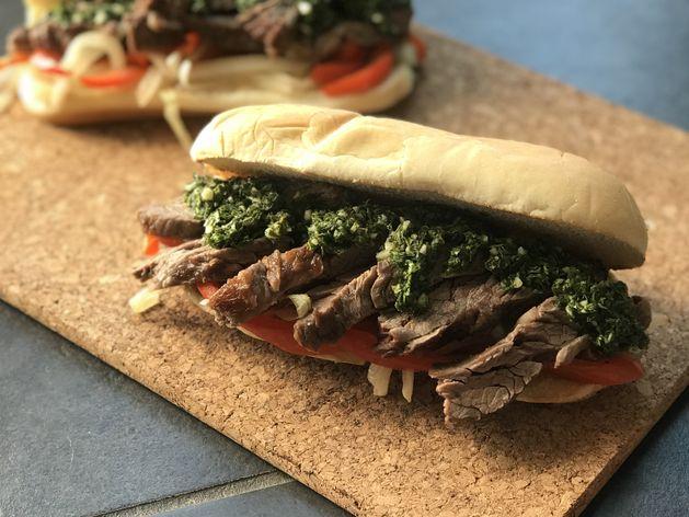 Chimichurri Steak Sandwiches wide display