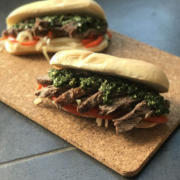 Chimichurri Steak Sandwiches wide display