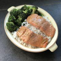 Miso Salmon with Broccoli