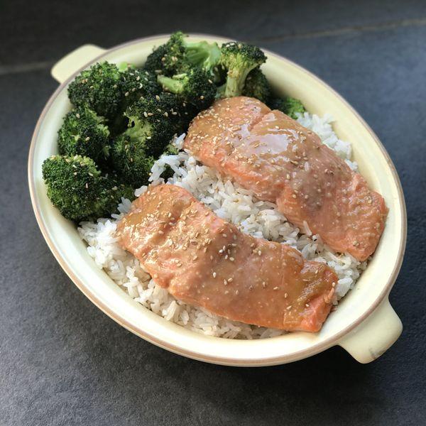 Miso Salmon with Broccoli wide display