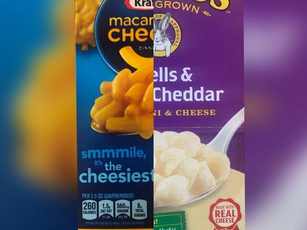 Box Macaroni and cheese wide display