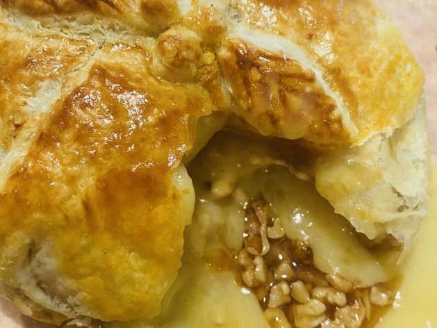Honey Walnut Stuffed Brie in Puff Pastry wide display
