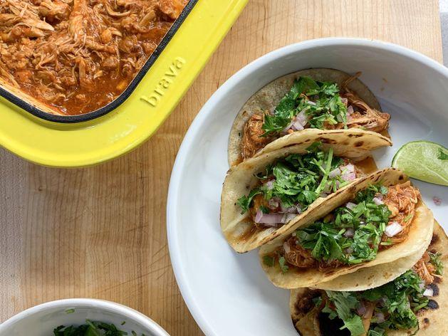 Braised Chicken Tinga Tacos wide display