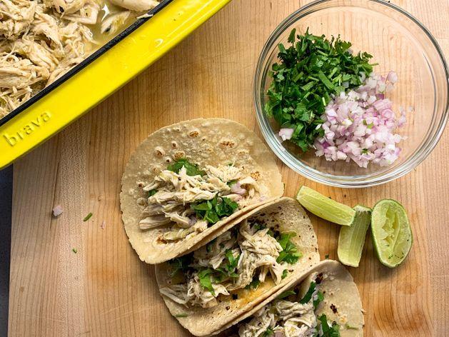 Salsa Verde Chicken Tacos wide display