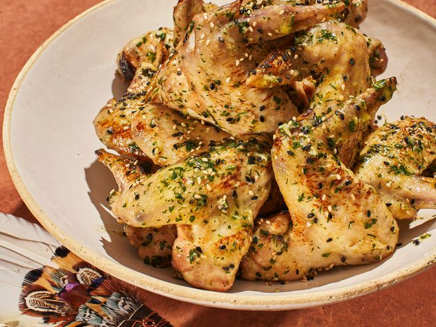 Chicken Wings in Garlic Butter wide display