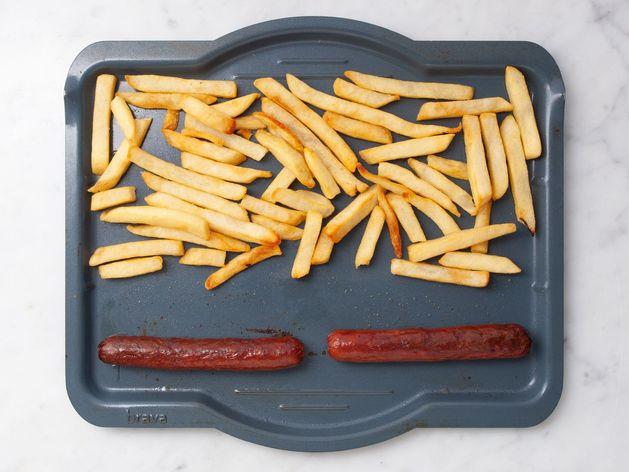 Hot Dogs and Frozen French Fries wide display