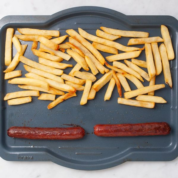 Hot Dogs and Frozen French Fries narrow display