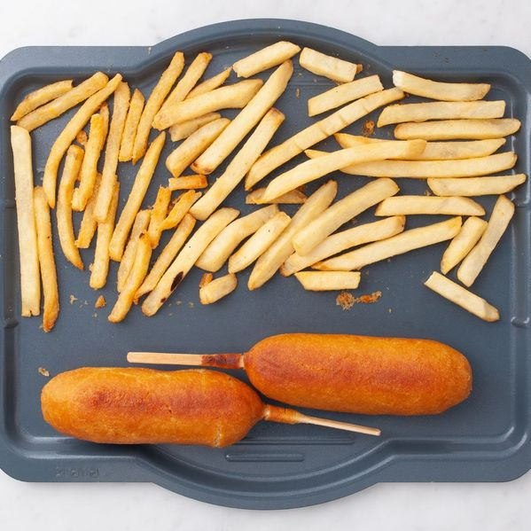 Frozen Corn Dogs and Frozen French Fries narrow display