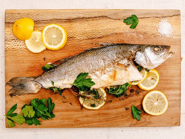 Whole Roasted Fish with Lemon and Herbs wide display