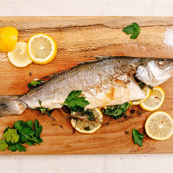 Whole Roasted Fish with Lemon and Herbs narrow display