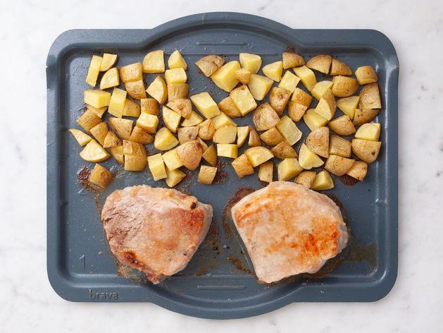 Pork Chops (Boneless) and Potatoes wide display