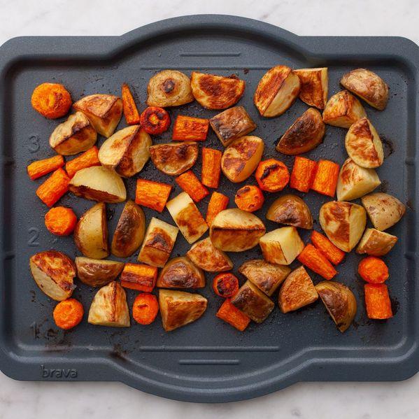 Potatoes and Carrots narrow display