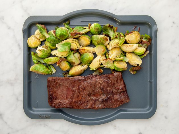 Skirt Steak and Brussels Sprouts wide display