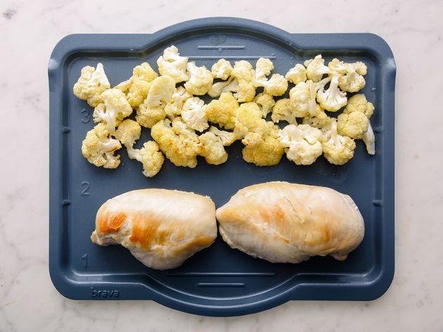 Chicken Breasts and Cauliflower wide display