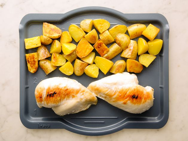Chicken Breasts and Potatoes wide display