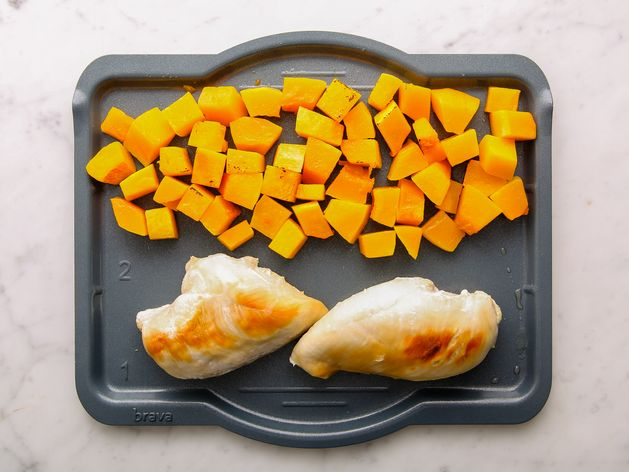 Chicken Breasts and Butternut Squash wide display