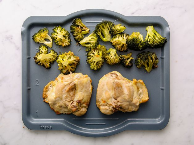 Chicken Thighs and Broccoli wide display