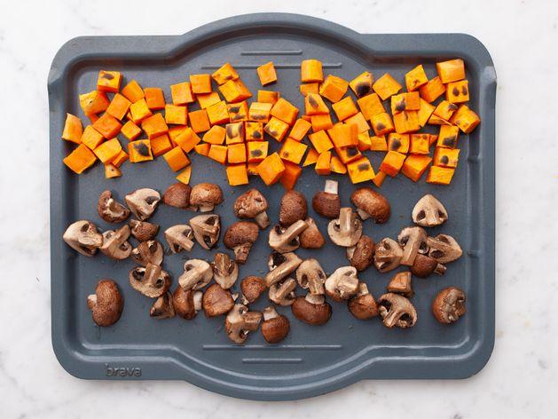 Sweet Potatoes and Mushrooms wide display