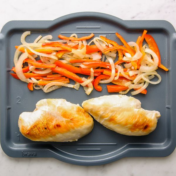 Chicken Breasts with Onions & Peppers narrow display