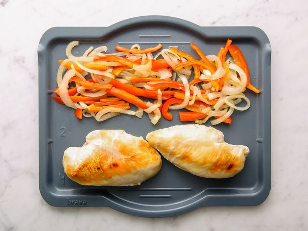 Chicken Breasts with Onions and Peppers wide display