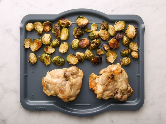 Chicken Thighs and Brussels Sprouts wide display