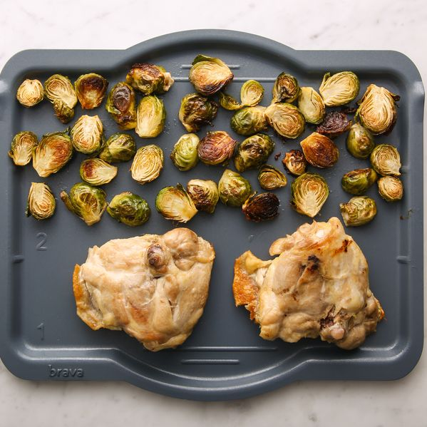 Chicken Thighs (Bone-In and Skin-On) and Brussels Sprouts narrow display
