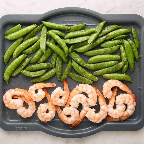 Shrimp and Snap Peas narrow display