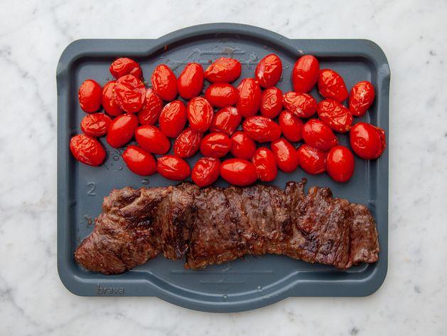 Skirt Steak and Cherry Tomato wide display