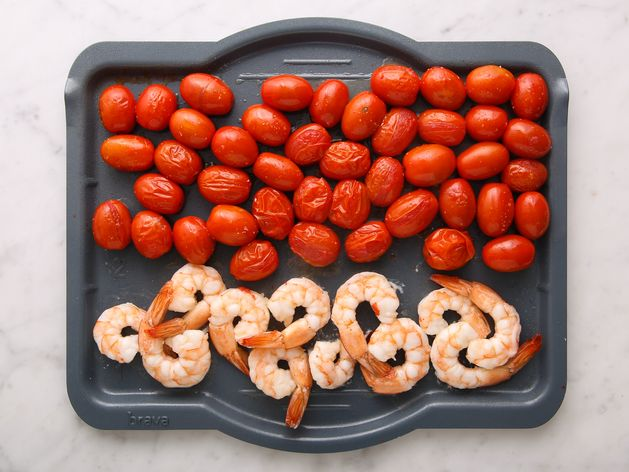 Shrimp and Cherry Tomatoes wide display