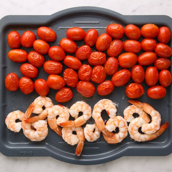 Shrimp and Cherry Tomatoes narrow display