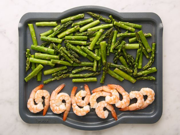 Shrimp and Asparagus wide display