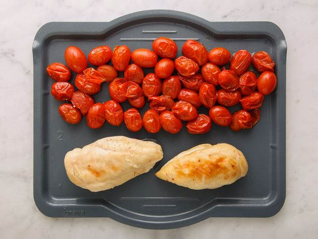 Chicken Breasts and Cherry Tomatoes wide display
