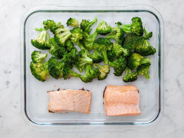Salmon & Broccoli wide display