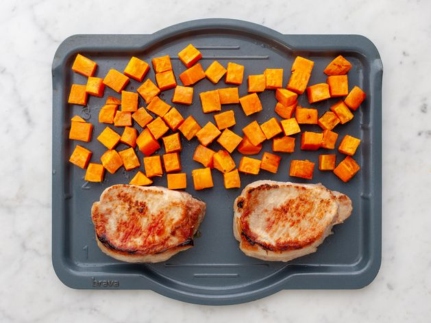 Pork Chops (Boneless) and Sweet Potatoes wide display