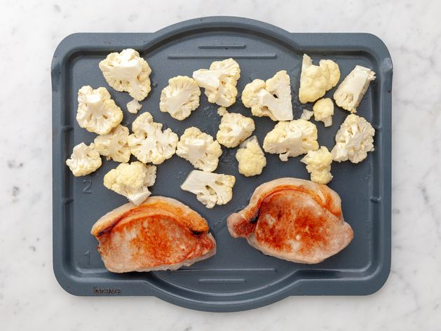 Pork Chops (Boneless) and Cauliflower wide display