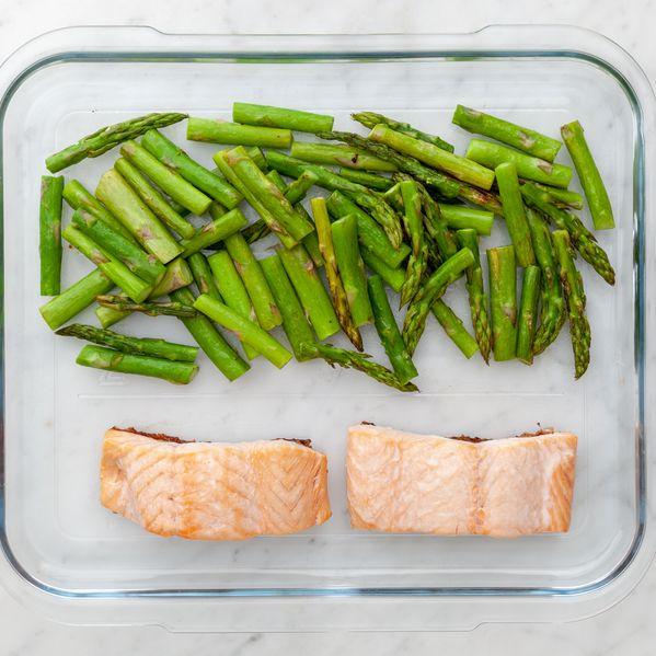 Salmon & Asparagus narrow display
