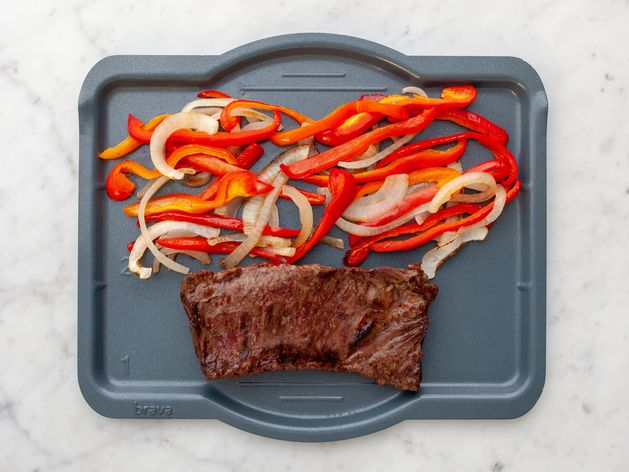 Skirt Steak with Onions & Peppers wide display