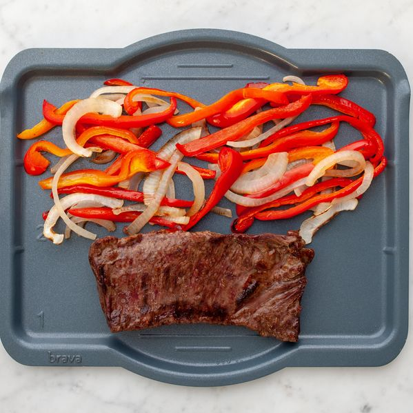 Skirt Steak with Onions and Peppers narrow display