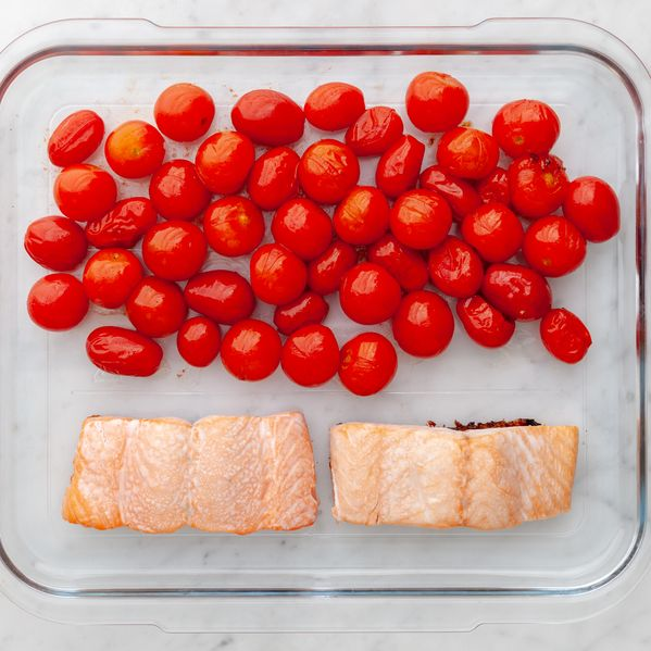 Salmon (Skin on) and Cherry Tomatoes narrow display