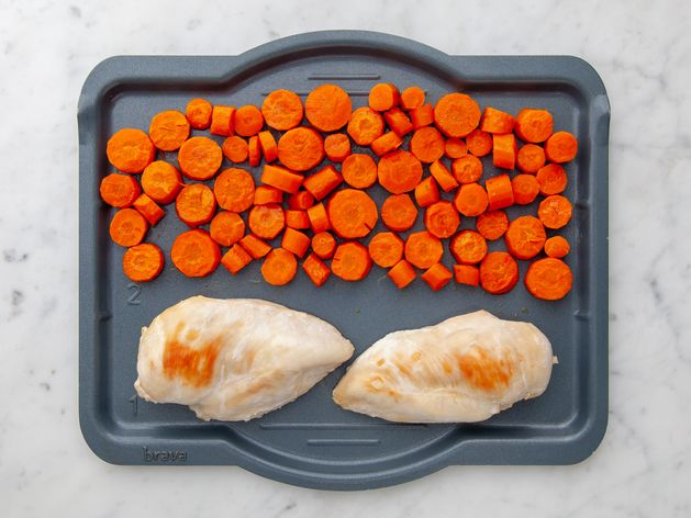 Chicken Breasts and Carrots wide display