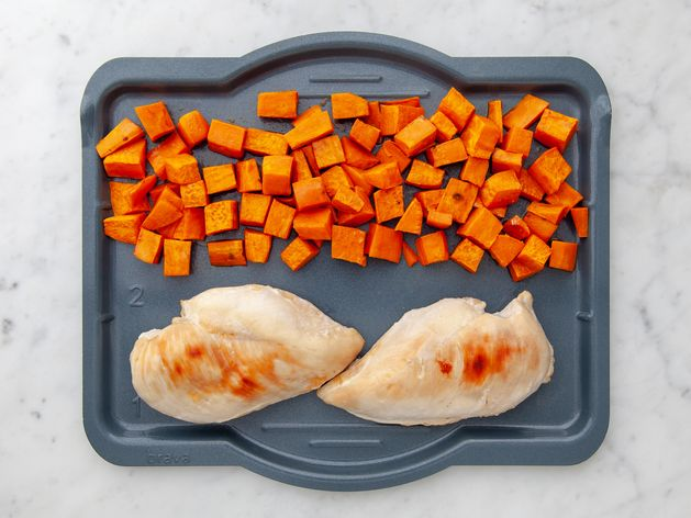 Chicken Breasts and Sweet Potatoes wide display